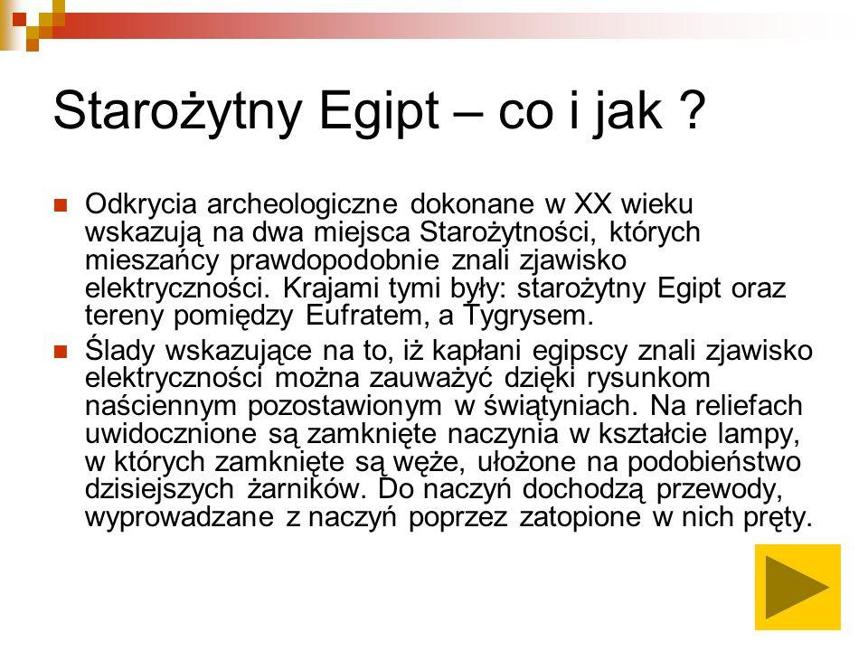 Starożytny Egipt – co i jak .