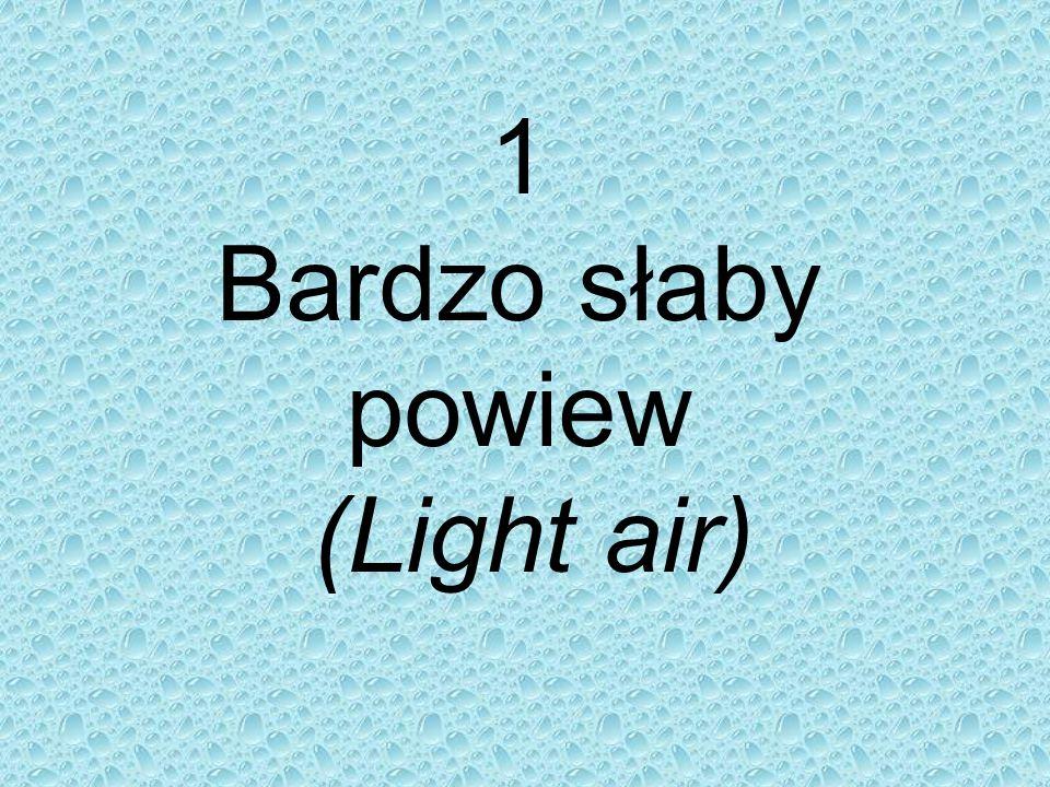 1 Bardzo słaby powiew (Light air)