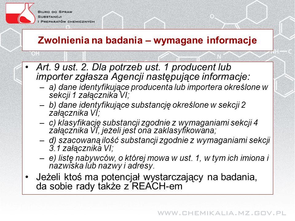 Zwolnienia na badania – wymagane informacje Art. 9 ust.