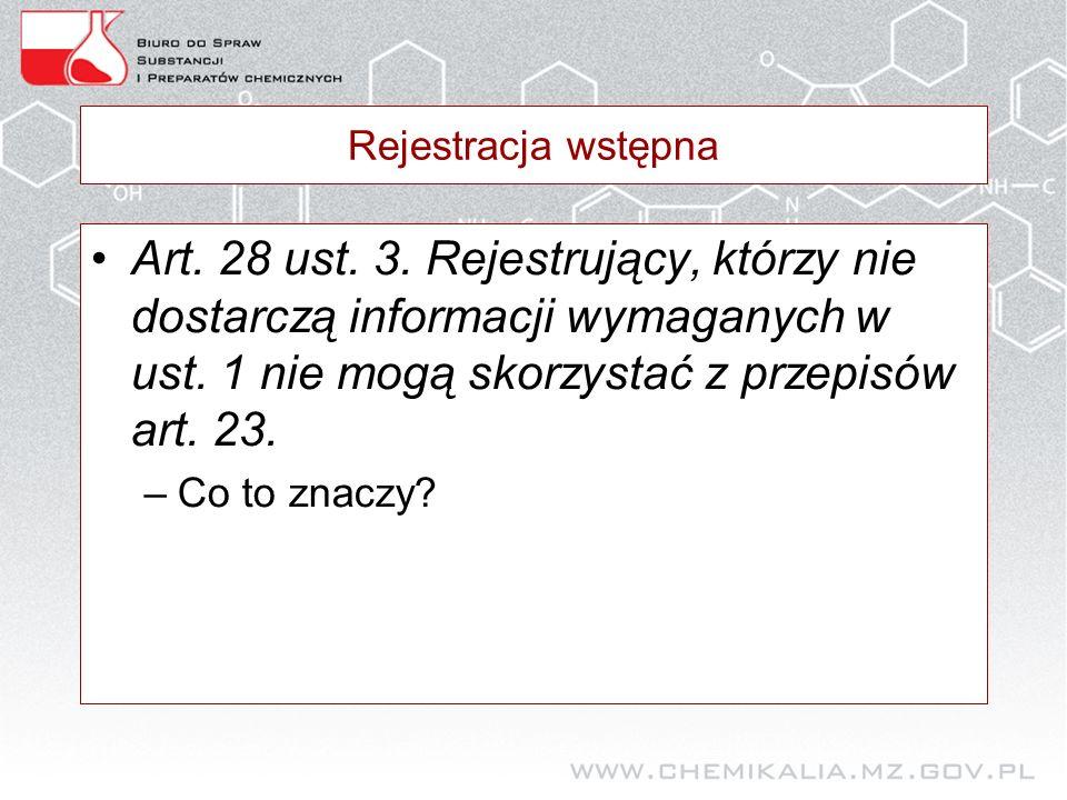Rejestracja wstępna Art. 28 ust. 3.