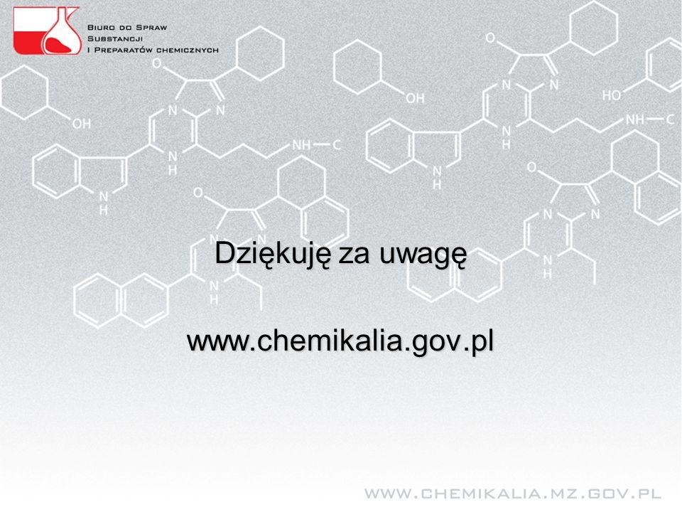 Dziękuję za uwagę www.chemikalia.gov.pl