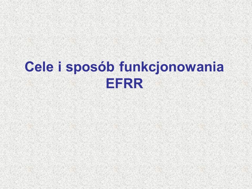Cele i sposób funkcjonowania EFRR