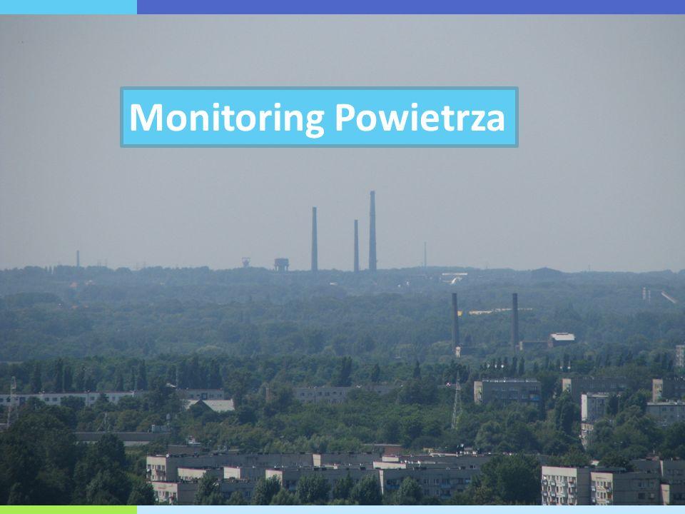 Zakres badań monitoringowych powietrza w 2011 roku W roku 2011 na terenie województwa śląskiego znajdowało się łącznie 220 stanowisk pomiarowych służących ocenie jakości powietrza w zakresie:  pyłu zawieszonego PM10,  pyłu zawieszonego PM2,5,  dwutlenku siarki,  dwutlenku azotu,  tlenków azotu,  ozonu,  tlenku węgla,  benzenu,  oraz zawartych w pyle PM10: ołowiu, kadmu, niklu, arsenu i benzo(a)pirenu.