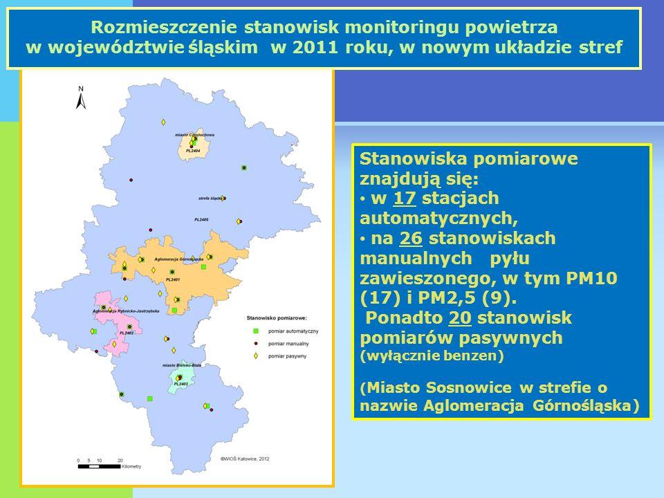 Monitoring wód powierzchniowych badanych na terenie Sosnowca w 2011 roku Punkty pomiarowe badane na terenie Sosnowca w 2011 roku