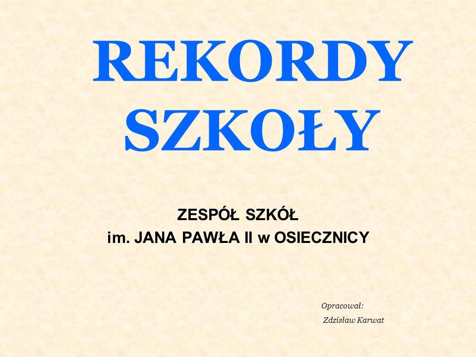 Rzut oszczepem DZIEWCZĘTA Małgorzata Myśków Wynik – 27,60 m ( 1991 rok ) CHŁOPCY Paweł Wołoszyn Wynik – 42,18 m ( 2008 rok )