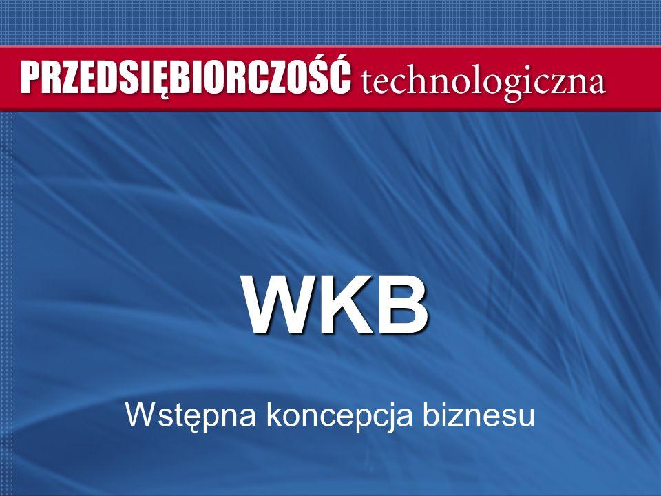 WKB Wstępna koncepcja biznesu