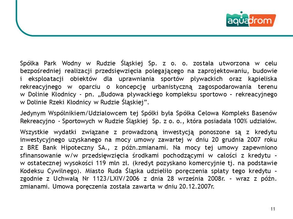 11 Spółka Park Wodny w Rudzie Śląskiej Sp. z o. o.