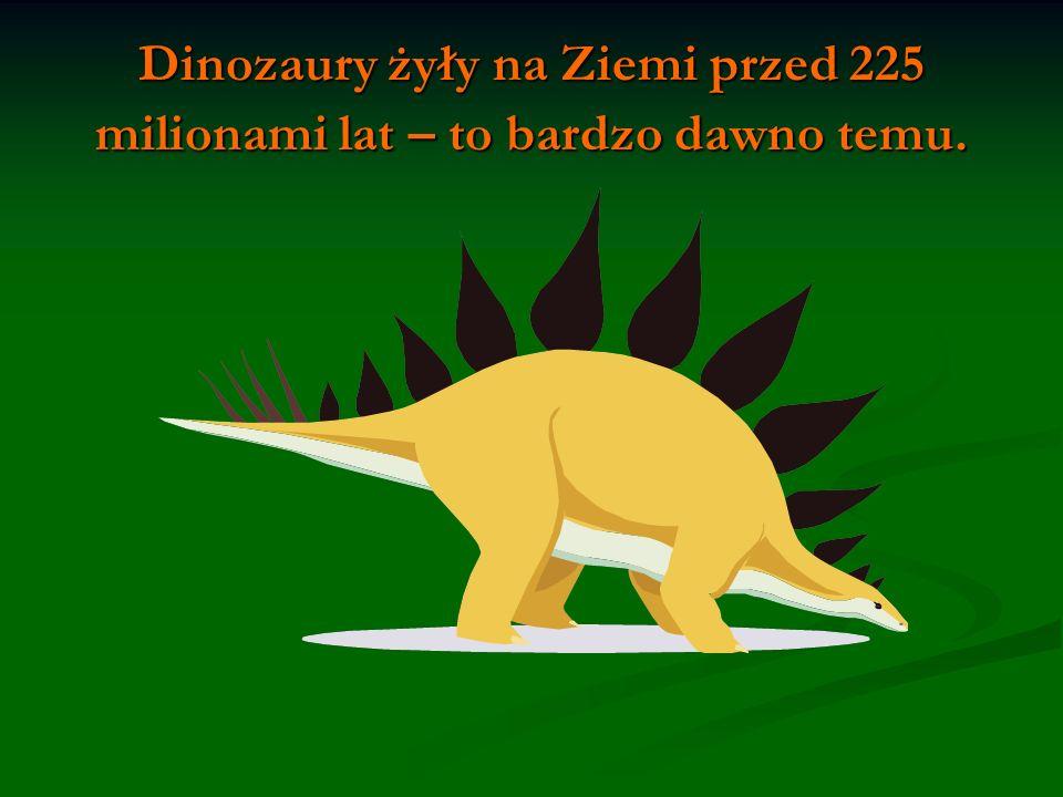 Dinozaury żyły na Ziemi przed 225 milionami lat – to bardzo dawno temu.