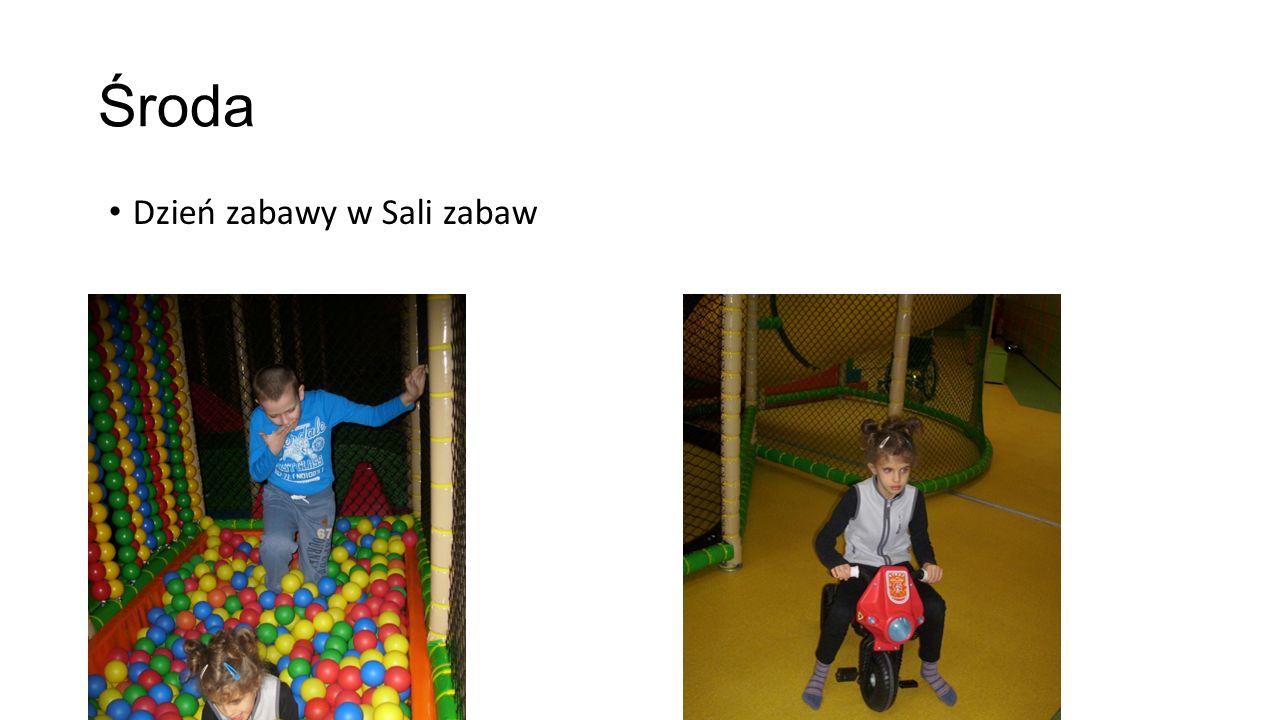 Środa Dzień zabawy w Sali zabaw