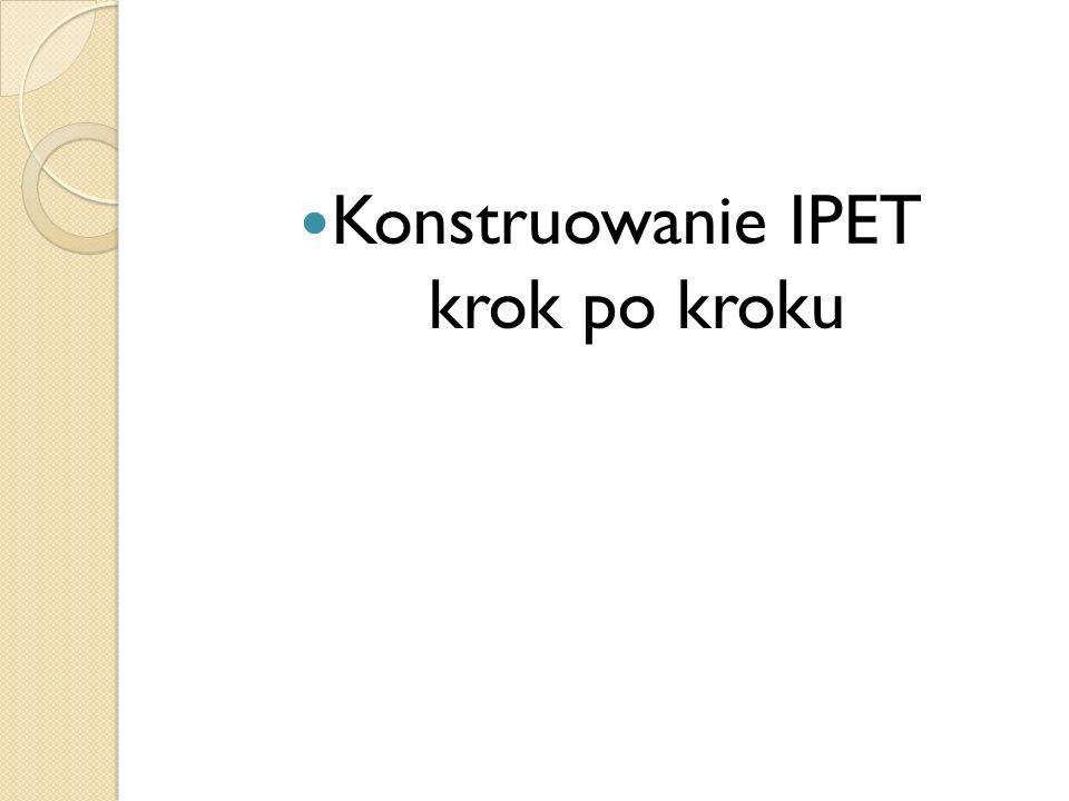 Konstruowanie IPET krok po kroku