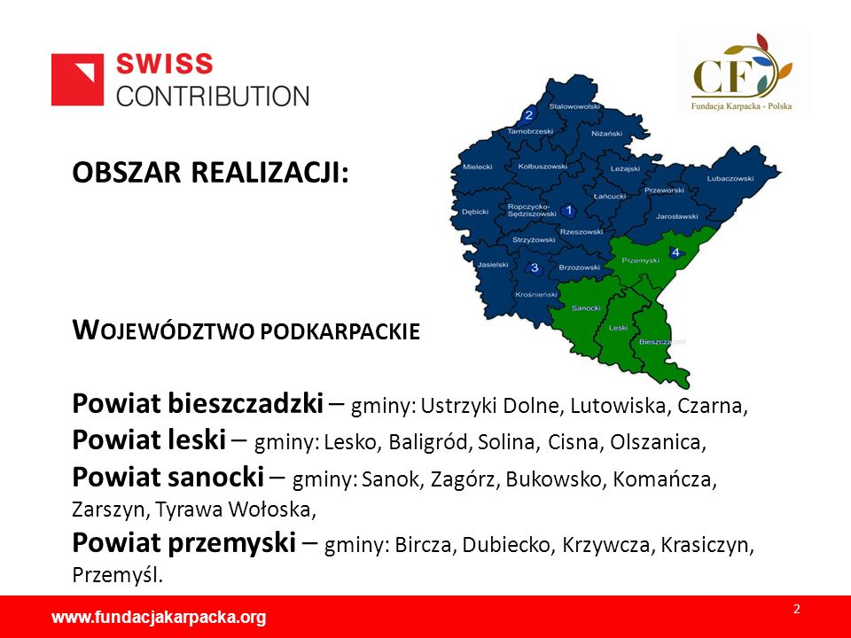 INSTYTUCJA REALIZUJĄCA: Fundacja Karpacka -Polska PARTNERZY PROJEKTU: Bieszczadzki Park Narodowy Grupa Bieszczadzka Górskie Ochotnicze Pogotowie Ratunkowe www.fundacjakarpacka.org 3