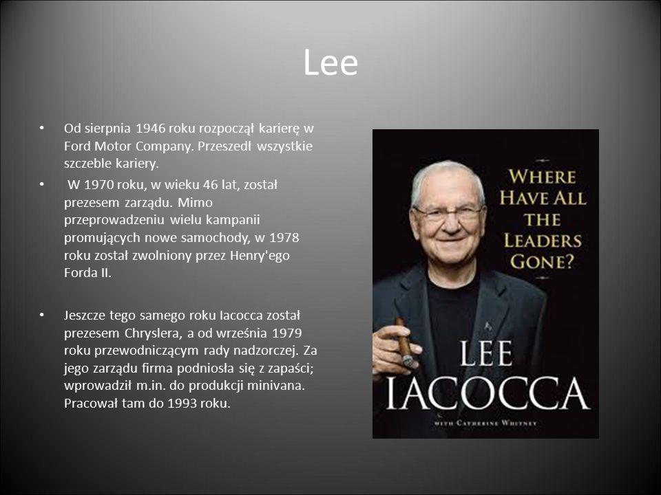 Lee Od sierpnia 1946 roku rozpoczął karierę w Ford Motor Company. Przeszedł wszystkie szczeble kariery. W 1970 roku, w wieku 46 lat, został prezesem z