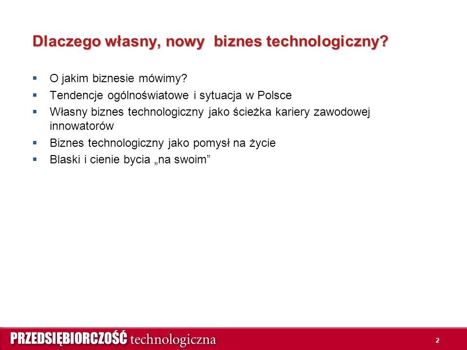 2 Dlaczego własny, nowy biznes technologiczny.  O jakim biznesie mówimy.