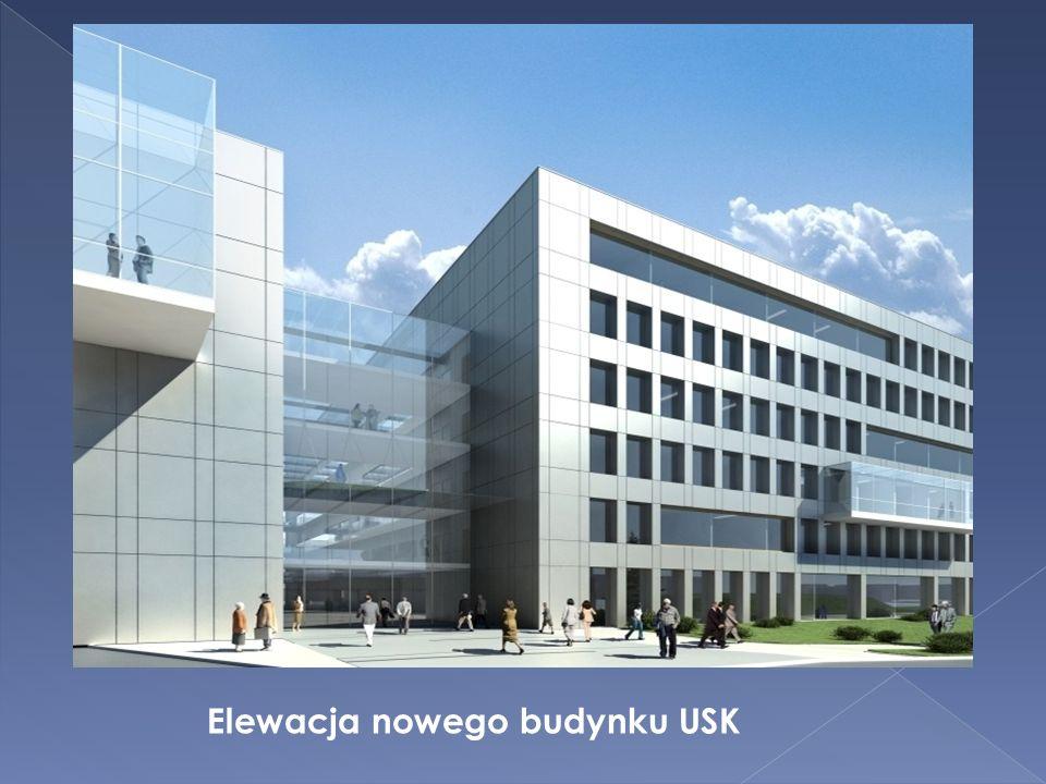 Miejsce uszkodzenia - Umieszczenie pakera - Powłoka żywiczna po utwardzeniu- Elewacja nowego budynku USK