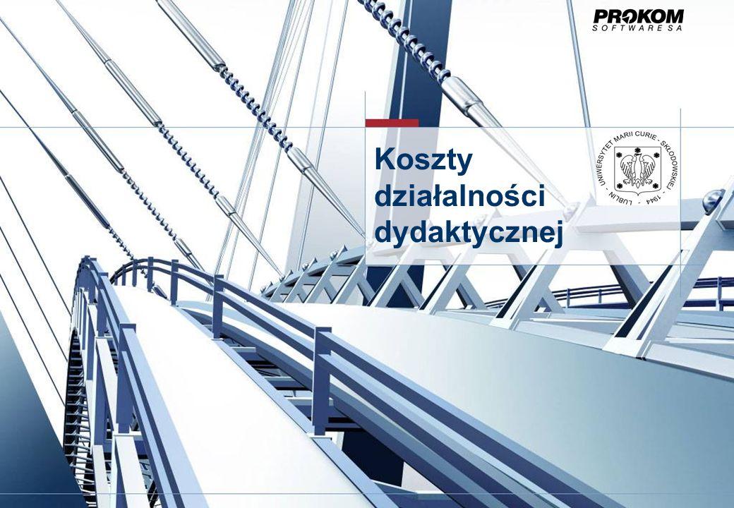 Działalność dydaktyczna – koszty studiów stacjonarnych Obiektami kontrolingowymi będą MPK-i przypisane do poszczególnych jednostek organizacyjnych (np.