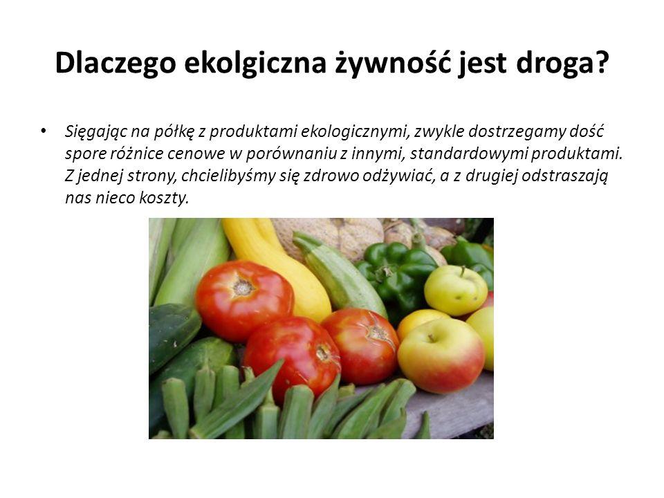 Dlaczego ekolgiczna żywność jest droga.