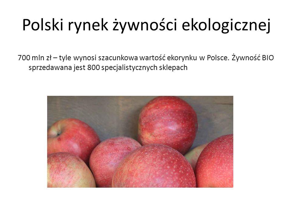 Polski rynek żywności ekologicznej 700 mln zł – tyle wynosi szacunkowa wartość ekorynku w Polsce.