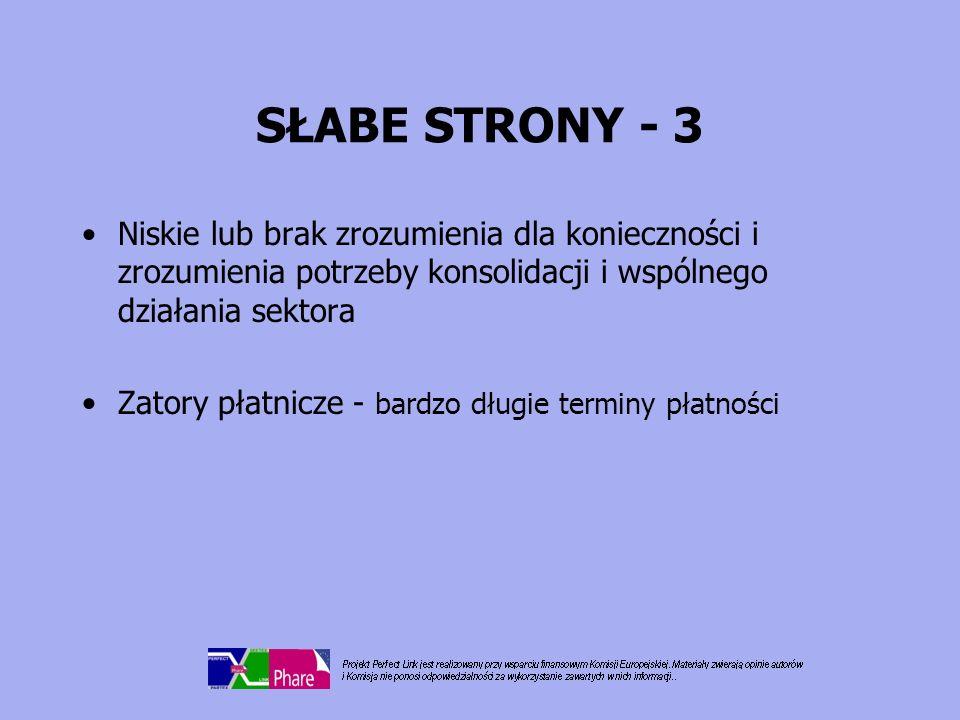 SZANSE - 1 Dostęp do rynków UE: –łatwiejsza penetracja rynków UE –równe prawa –możliwość zbliżenia rynków krajów bałtyckich Dostęp do rynków wschodnich