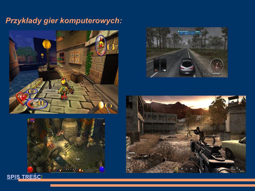 Gry komputerowe Gra komputerowa – rodzaj oprogramowania komputerowego przeznaczonego do celów rozrywkowych bądź edukacyjnych (rozrywka interaktywna) i wymagającego od użytkownika (gracza) rozwiązywania zadań logicznych lub zręcznościowych.