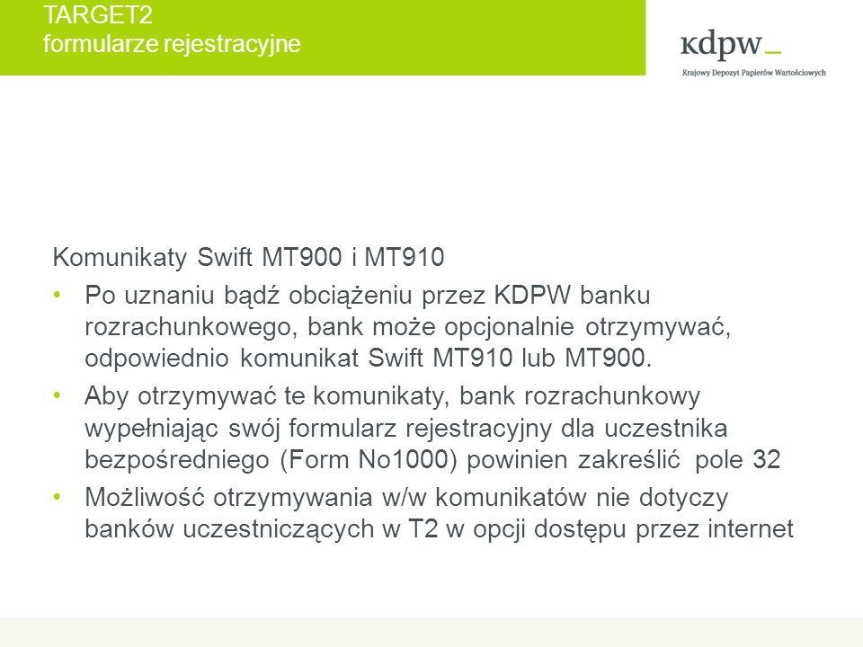 TARGET2 Załącznik 16, 16a b) każdy uczestnik, tak jak obecnie, jest zobowiązany do poinformowania KDPW o nowym rachunku lub o zmianie numeru rachunku, który wykorzystywany będzie do rozrachunku pieniężnego w EUR, w tym do wypłaty świadczeń.