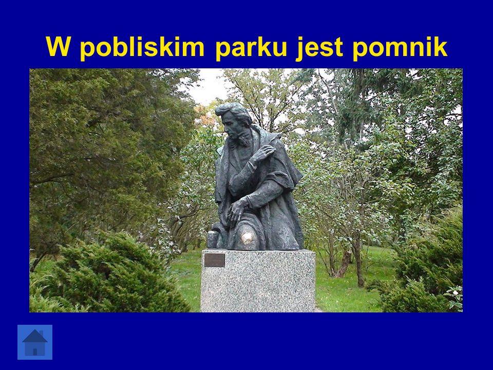 W pobliskim parku jest pomnik