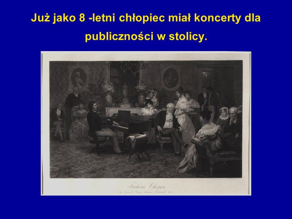 Wnętrze muzeum zachowano z czasów Chopina.
