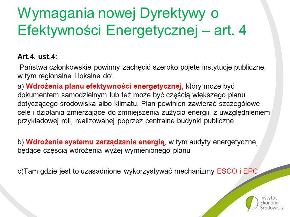 Wymagania nowej Dyrektywy o Efektywności Energetycznej – art.