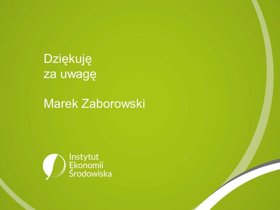 Dziękuję za uwagę Marek Zaborowski