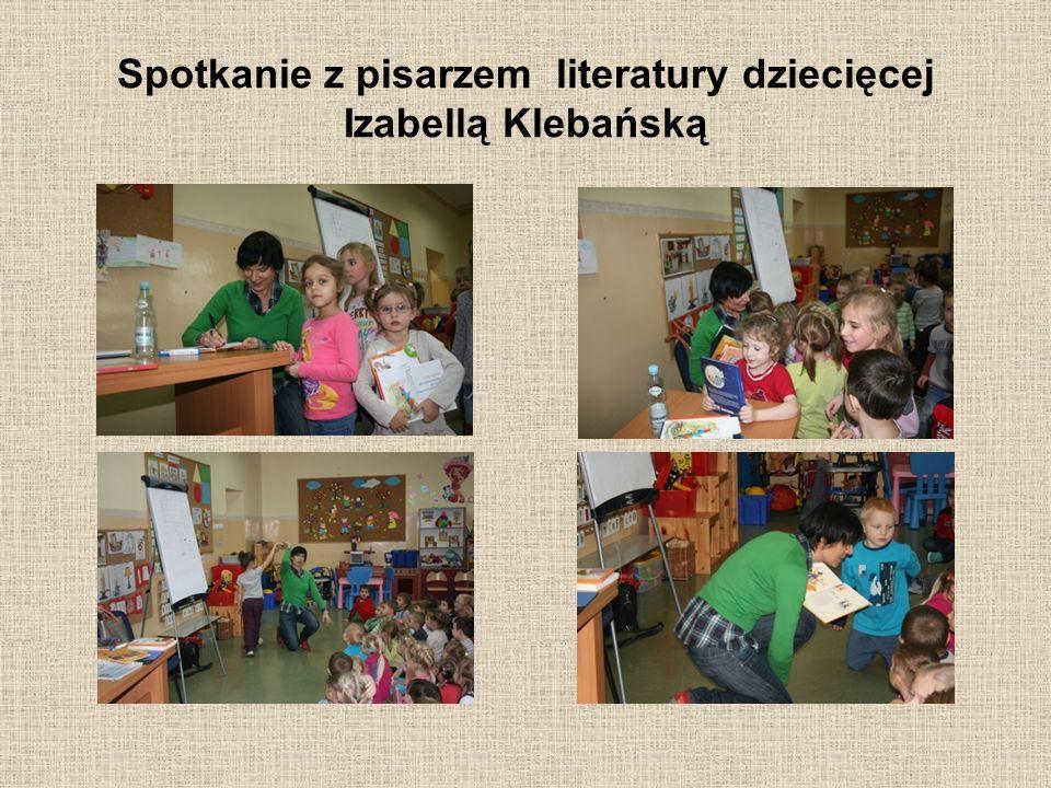 Spotkanie z pisarzem literatury dziecięcej Izabellą Klebańską
