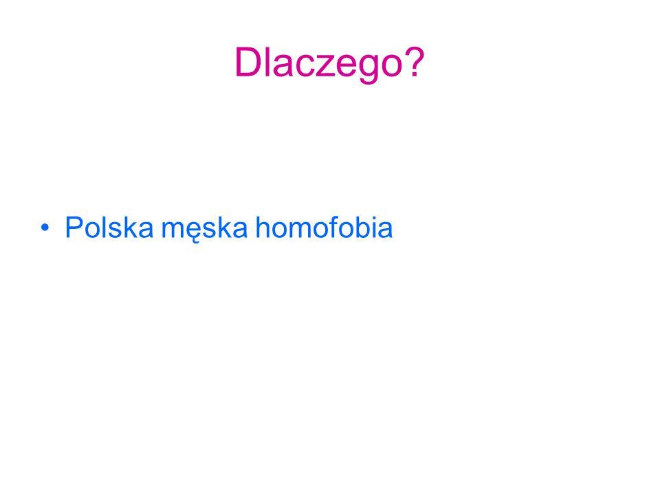 Dlaczego? Polska męska homofobia