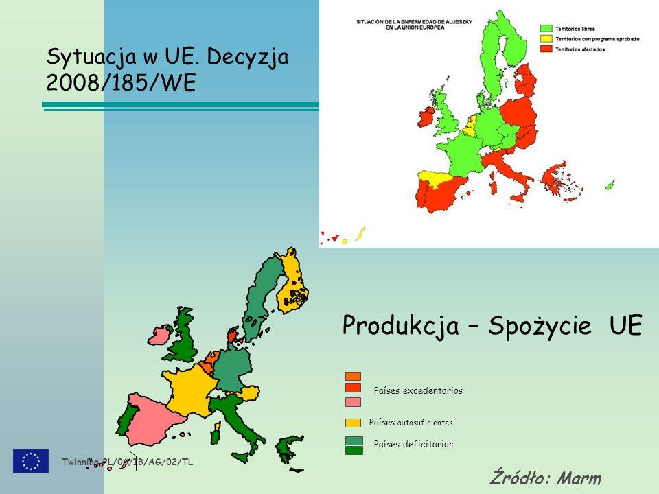 Twinning PL/06/IB/AG/02/TL Źródło: Marm Sytuacja w UE.