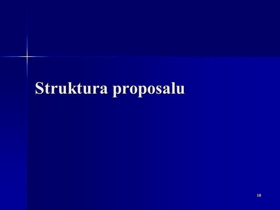 18 Struktura proposalu