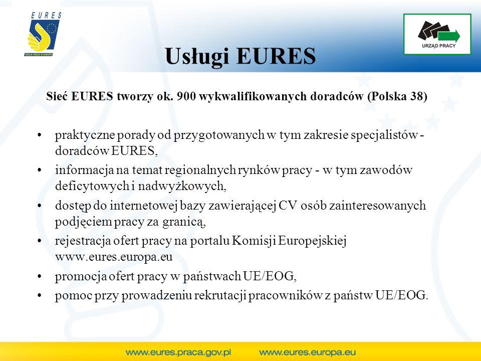 Prowadzenie rekrutacji pracowników z wybranego państwa UE/EOG zebranie podań o pracę kandydatów - zawierających m.in.