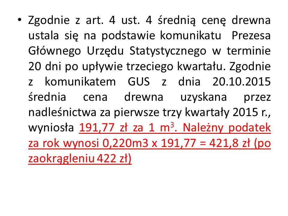 Zgodnie z art. 4 ust.