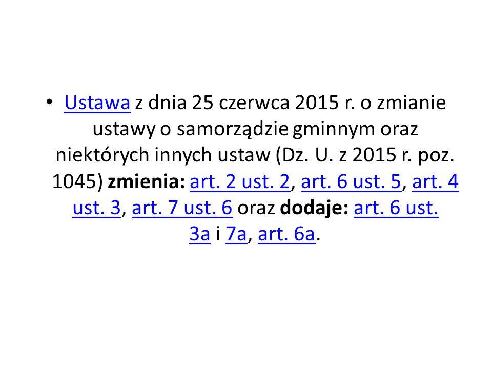Ustawa z dnia 25 czerwca 2015 r.