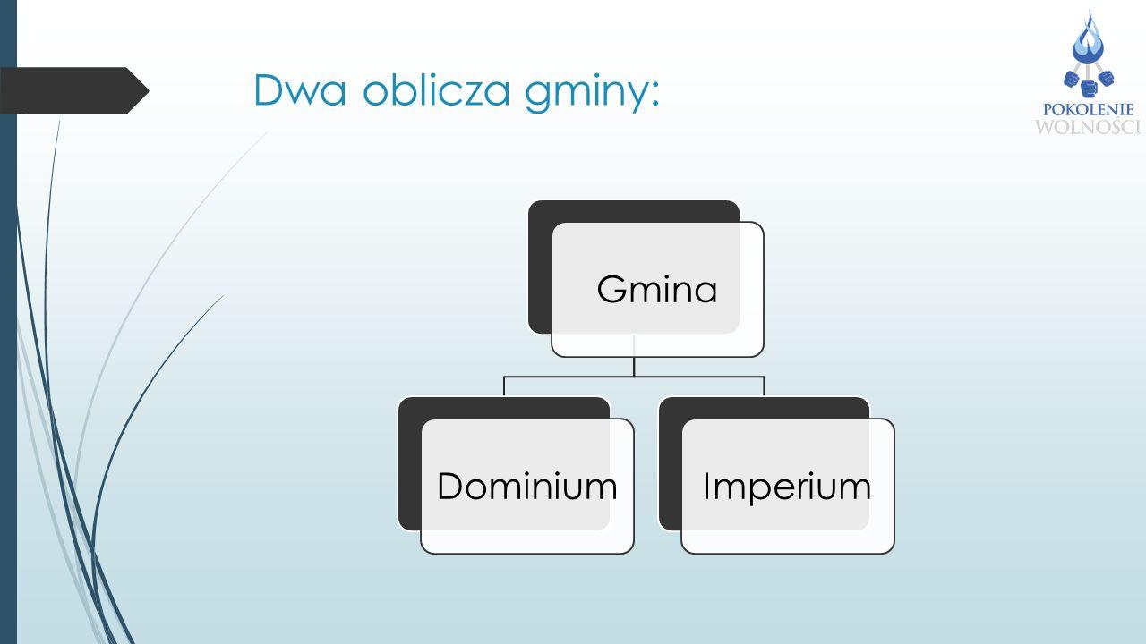 Dwa oblicza gminy: GminaDominiumImperium