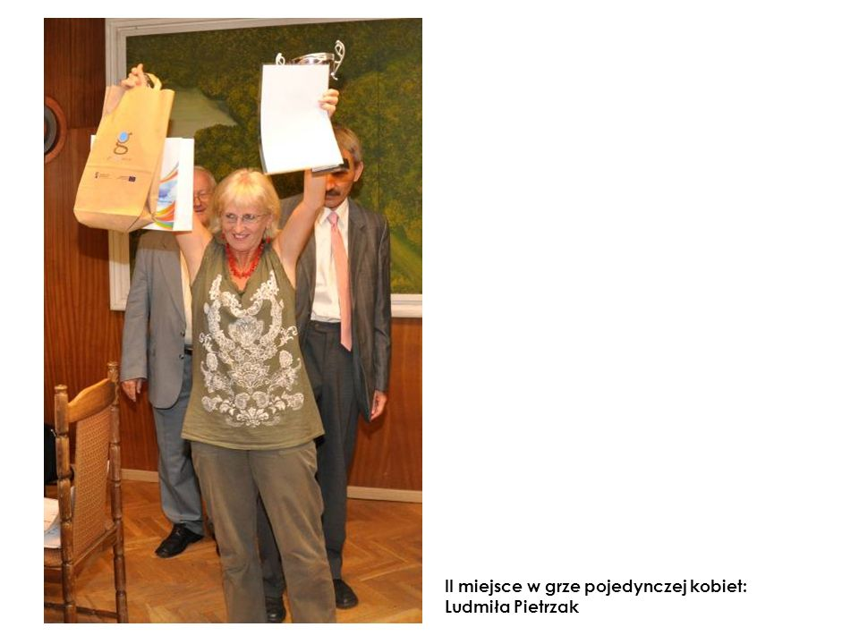 II miejsce w grze pojedynczej kobiet: Ludmiła Pietrzak