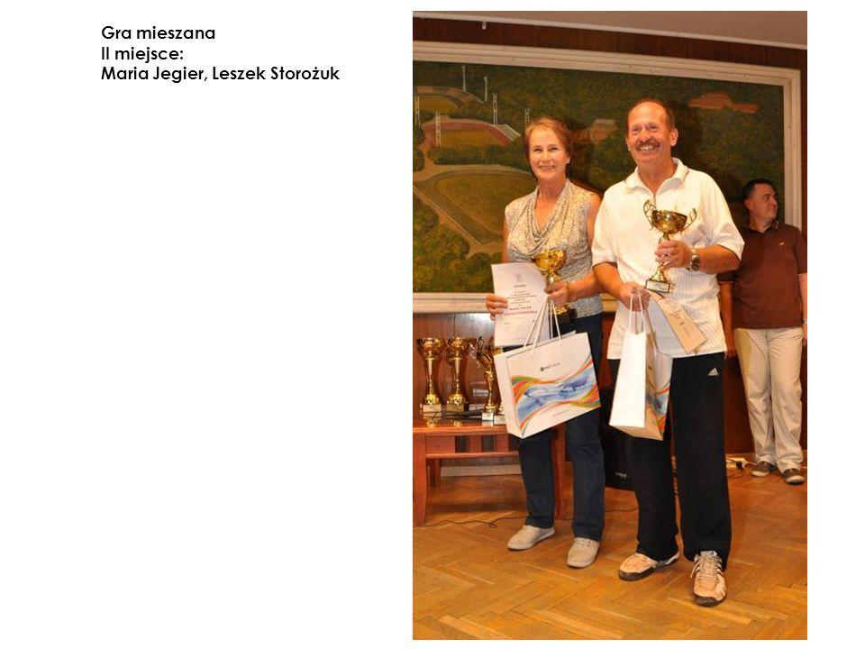 Gra mieszana II miejsce: Maria Jegier, Leszek Storożuk