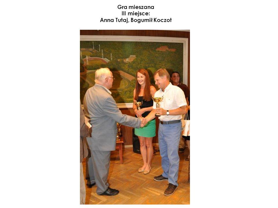 Gra mieszana III miejsce: Anna Tutaj, Bogumił Koczot