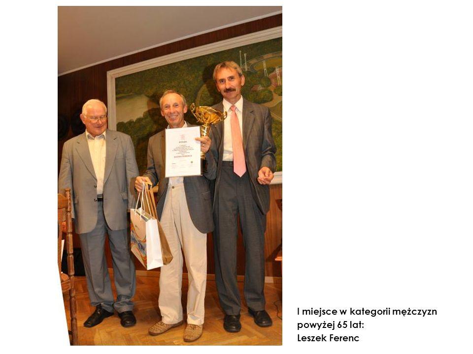 I miejsce w kategorii mężczyzn powyżej 65 lat: Leszek Ferenc