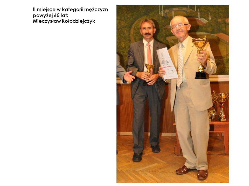 II miejsce w kategorii mężczyzn powyżej 65 lat: Mieczysław Kołodziejczyk