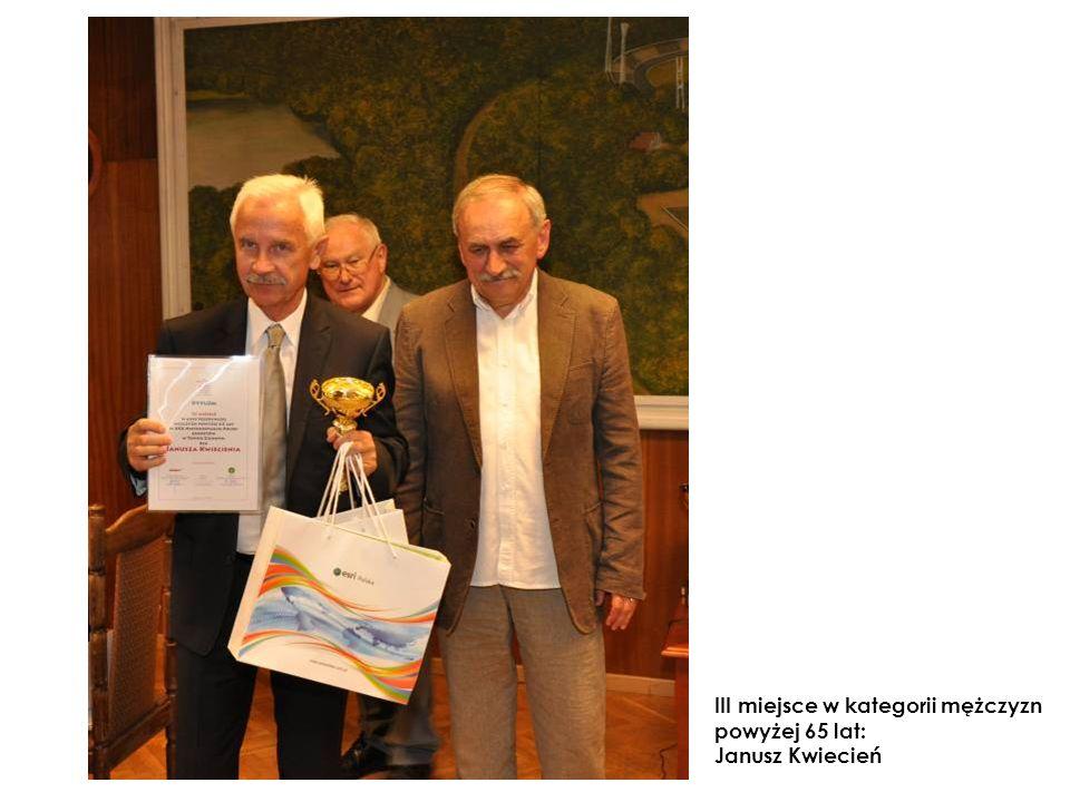 III miejsce w kategorii mężczyzn powyżej 65 lat: Janusz Kwiecień