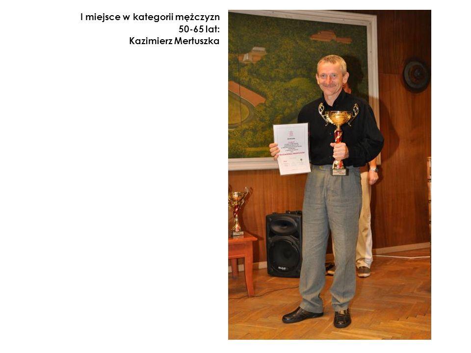 I miejsce w kategorii mężczyzn 50-65 lat: Kazimierz Mertuszka