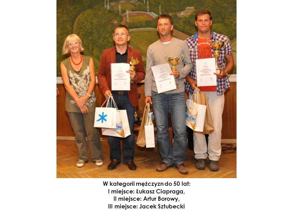 W kategorii mężczyzn do 50 lat: I miejsce: Łukasz Ciapraga, II miejsce: Artur Borowy, III miejsce: Jacek Sztubecki