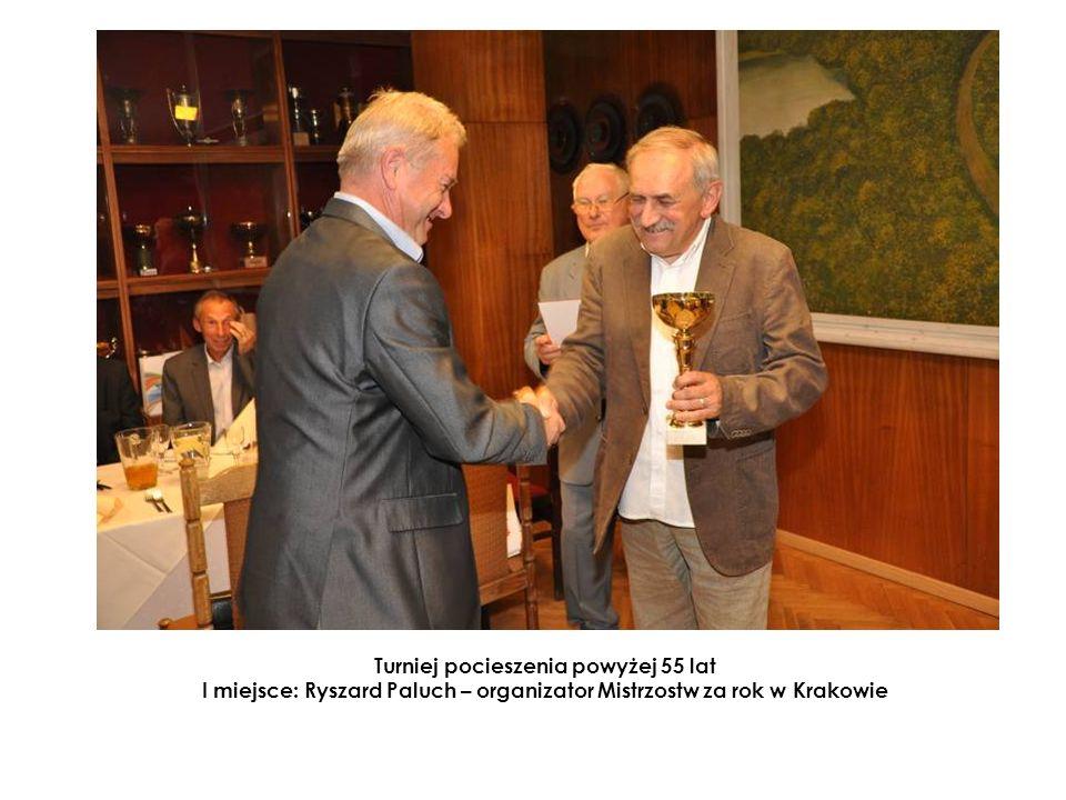 Turniej pocieszenia powyżej 55 lat I miejsce: Ryszard Paluch – organizator Mistrzostw za rok w Krakowie