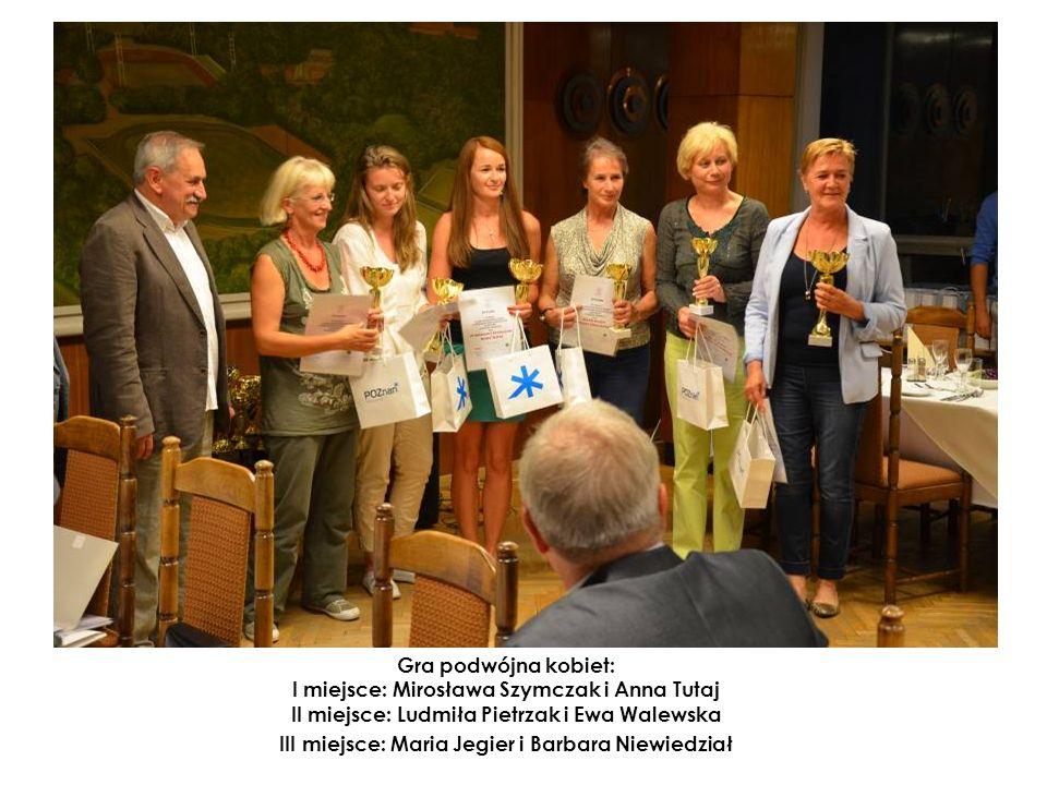 Gra podwójna kobiet: I miejsce: Mirosława Szymczak i Anna Tutaj II miejsce: Ludmiła Pietrzak i Ewa Walewska III miejsce: Maria Jegier i Barbara Niewiedział