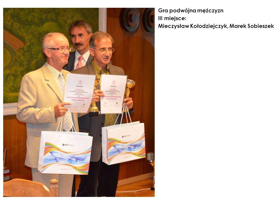 Gra podwójna mężczyzn III miejsce: Mieczysław Kołodziejczyk, Marek Sobieszek