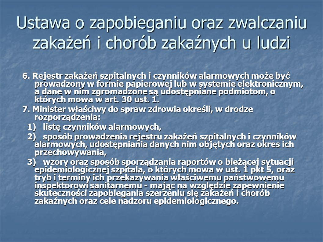 Ustawa o zapobieganiu oraz zwalczaniu zakażeń i chorób zakaźnych u ludzi 6.