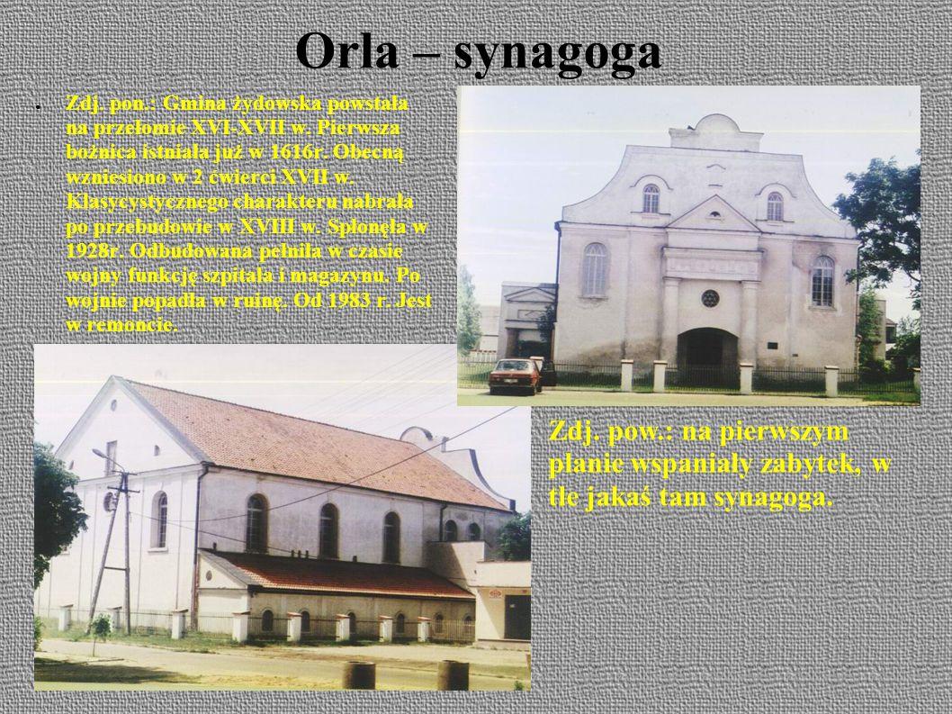 Orla – synagoga ● Zdj.pon.: Gmina żydowska powstała na przełomie XVI-XVII w.