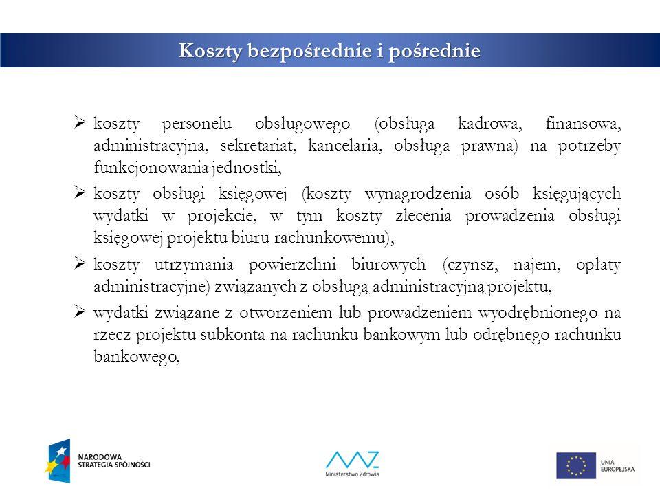 10 Koszty bezpośrednie i pośrednie  działania informacyjno ‐ promocyjne projektu (np.